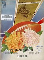 1947 Football Program - UT vs Duke