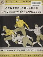 1934 Football Program - UT vs Centre