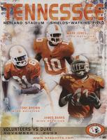 2003 Football Program - UT vs Duke