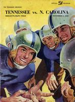 1946 Football Program - UT vs North Carolina