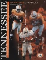 2002 Football Program - UT vs Kentucky