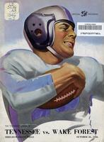 1946 Football Program - UT vs Wake Forest