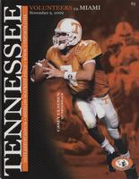 2002 Football Program - UT vs Miami (Florida)