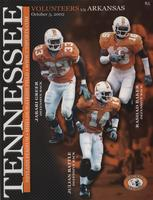 2002 Football Program - UT vs Arkansas
