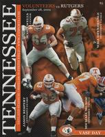 2002 Football Program - UT vs Rutgers