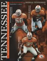 2002 Football Program - UT vs MTSU