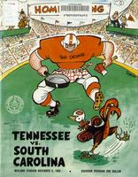 1969 Football Program - UT vs South Carolina
