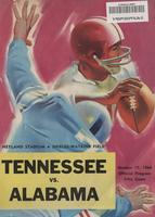 1964 Football Program - UT vs Alabama