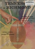 1963 Football Program - UT vs Richmond