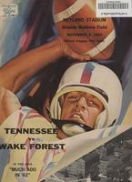 1962 Football Program - UT vs Wake Forest