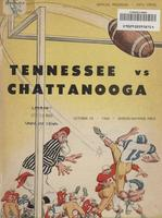 1960 Football Program - UT vs UT-Chattanooga