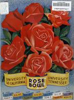 1944 Football Program - UT vs Southern California (Rose Bowl)