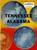 1958 Football Program - UT vs Alabama