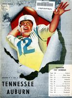 1957 Football Program - UT vs Auburn