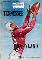1956 Football Program - UT vs Maryland