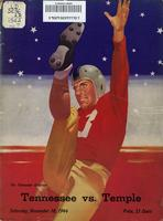 1944 Football Program - UT vs Temple