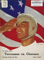 1944 Football Program - UT vs Clemson
