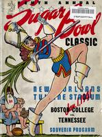 1940 Football Program - UT vs Boston College (Sugar Bowl)