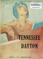 1955 Football Program - UT vs Dayton