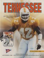 2000 Football Program - UT vs Southern Mississippi