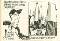 Environmentalist Ronald Reagan's Solution to Smog and Pollution ... A Smoke Stack and Scrubber for Every Tree!