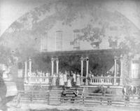 Freedman's Normal Institute, Maryville, Tennessee; group on front porch
