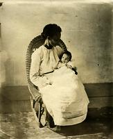 Mother and baby in a rocking chair