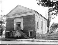 Columbian Hall, Broadway entrance; Maryville, Tennessee, corner of Main (now Broadway) and Cates; former New Providence Presbyterian Church built 1852