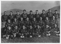 Photograph of football team including Estes Kefauver