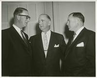 "Estes Kefauver with F. Joseph ""Jiggs"" Donahue, general campaign chairman, and J. Howard McGrath, vice chairmen of campaign"
