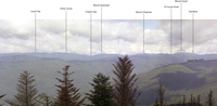 View from Spruce Mountain Tower – Annotated
