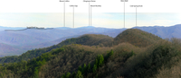 View from Rich Mountain – Annotated