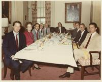 Howard Baker, Al Gore, Harold Ford, and Jimmy Quillen at Lunch Meeting in Tennessee