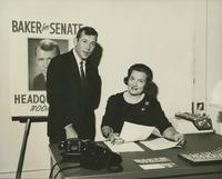 Howard Baker and Staffer during Early Senate Campaign