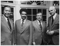 Howard Baker, Edward Brooke, Harold Coker and Man in Constituent Shot