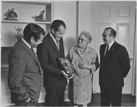 Howard Baker, Everett Dirksen, Louella Dirksen, and Richard Nixon