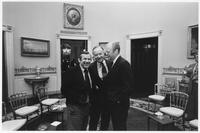 Howard Baker, Gerald Ford and Man at Campaign Strategy Meeting