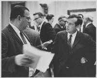 Howard Baker with other man at hearing