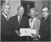 Group including Howard Baker and Joy Baker with Everett Dirksen Stamp