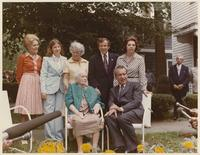 Group including Howard Baker, Joy Baker, Cynthia Baker, Louella Dirksen and Richard Nixon
