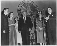 Howard Baker Sr., Howard Baker and Irene Baker with Others at Award Ceremony