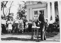 Howard Baker Addressing Constituents during Campaign in Dyersburg, Tennessee