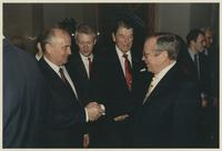 Group including Howard Baker, Mikail Gorbachev and Ronald Reagan