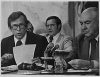 Howard Baker and Sam Ervin at Watergate Hearings