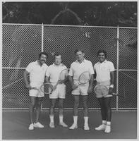 Group including Howard Baker at Tennis Match