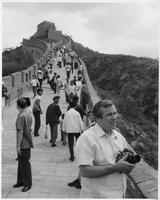 Howard Baker with Camera on the Great Wall of China