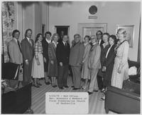 Howard Baker, Joy Baker, and Cynthia Baker Meeting with Constituents in the Howard Henry Baker Office