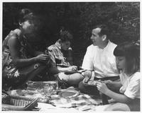 Howard Baker with Constituents on Picnic during Campaign