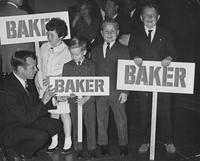 Howard Baker with Children Holding Baker Signs during Campaign
