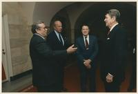 Howard Baker, Ronald Reagan, Caspar Weinberger, and George Shultz